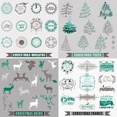 picture of christmas bells  - Vector Set - JPG