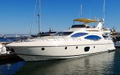 foto of yacht  - A luxury yacht at the yacht club in the port - JPG