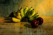 Apple And Banana Still Life