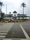 stock photo of sate  - gedung sate is the icon landmark buildings in bandung west java - JPG