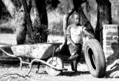 pic of poverty  - Poverty Stricken children in South Africa fighting for survival.