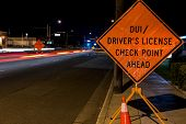 stock photo of designated driver  - A DUI check point in Anaheim CA - JPG