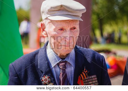 Unidentified Crying Veteran  During The Celebration Of Victory Day. Gomel, Belarus - May 9: Unidenti