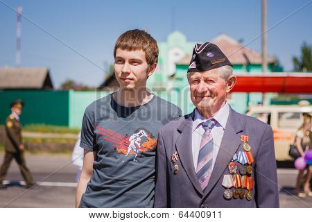 Unidentified Veteran During The Celebration Of Victory Day. Gomel, Belarus - May 9: Unidentified Vet