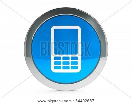 Mobile Phone Icon With Highlight