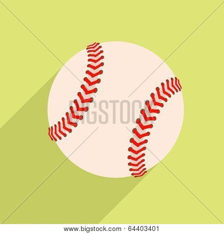 minimalistic illustration of a baseball, eps10 vector