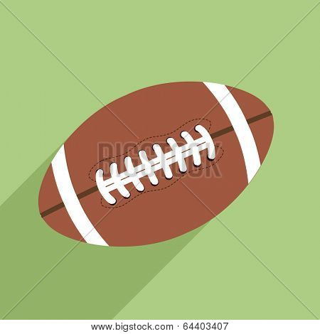 minimalistic illustration of a rugby ball, eps10 vector