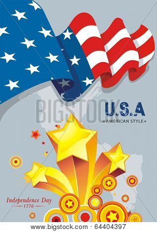 Independence day American vector illustration 8 eps.