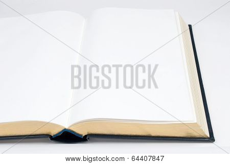 Open Book With Gold Edge Pages