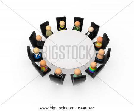 Cartoon Crowd, Round Table