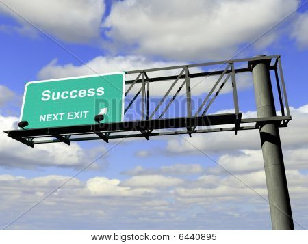 Success Exit Highway Sign