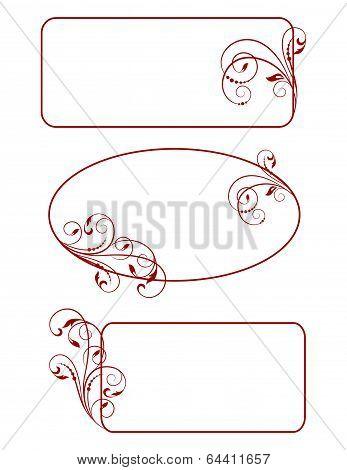 Decorative Frames - Element For Design In Vintage Style