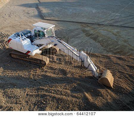 White Excavator