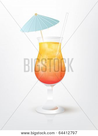 Illustration of the Sunset on the Beach cocktail