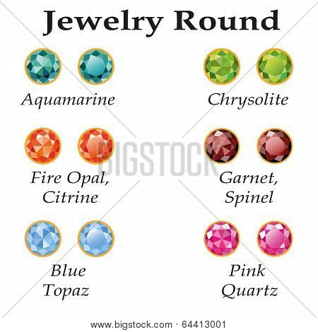 Jewelry Round Isolated Objects