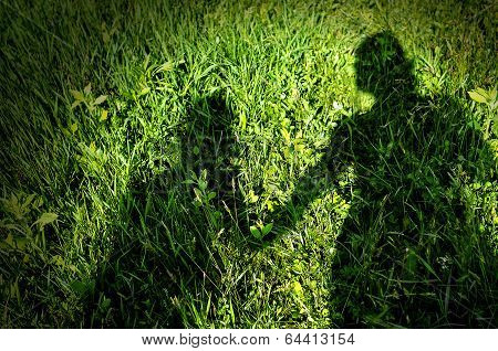 Shadow Of Mother And Child