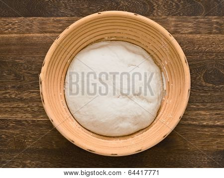 Bread Dough In Proofing Basket