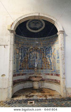 Ornate Fountain In Lisbon