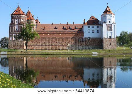 Castle in town Mir