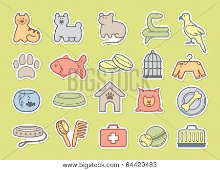 Pets care stickers