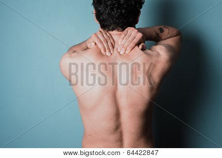 Young Man With Sore Neck