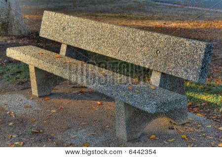 Stone Park Bench Hdr
