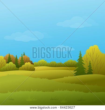 Landscape, autumn forest