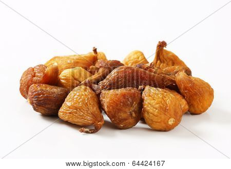 side view of dried figs on the heap
