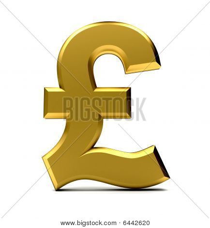 Golden Pound Symbol