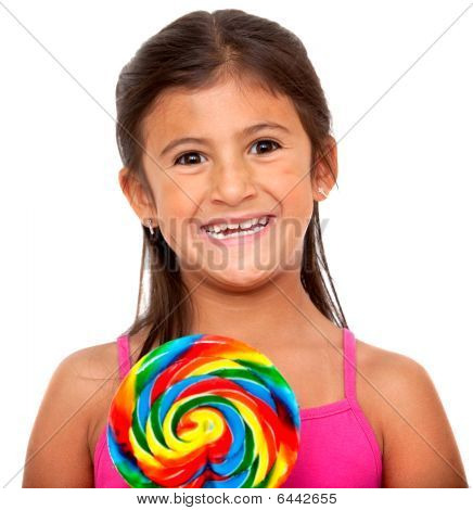 Girl With A Candy