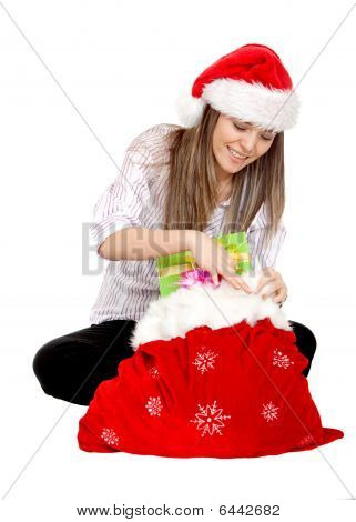 Girl Opening Gifts