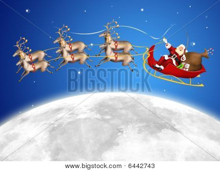 Santa In His Sled