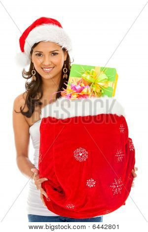 Santa Woman With Presents
