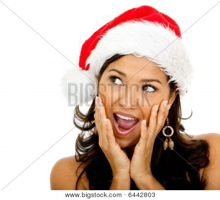 Surprised Female Santa