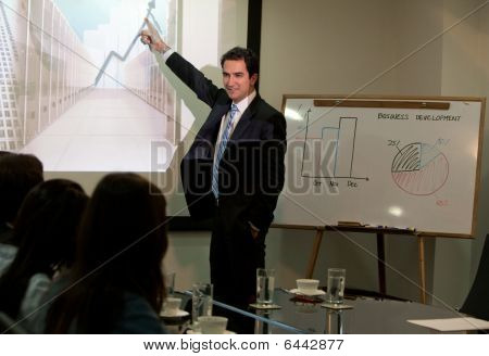 Corporate Man At A Presentation