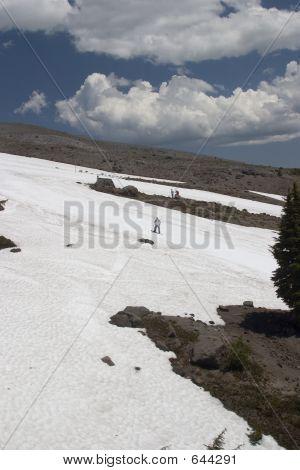 Summer Skiing On Mt Hood