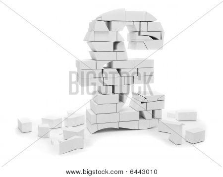 Pound Symbol In Bricks
