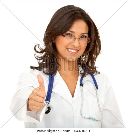 Doctor With Thumbs Up