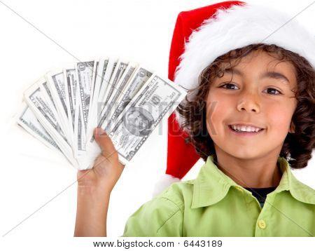 Christmas Boy With Money