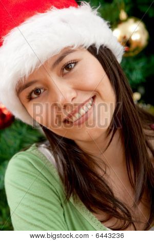 Christmas Woman Portrait