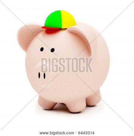 Childish Piggybank Isolated
