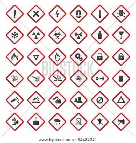 Warning and danger signs collection