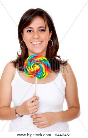 Woman With A Candy
