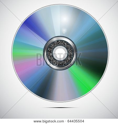The vector image of CD or DVD disc.