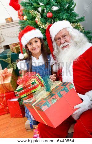 Girl With Santa