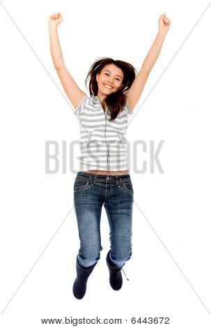 Happy Girl springen
