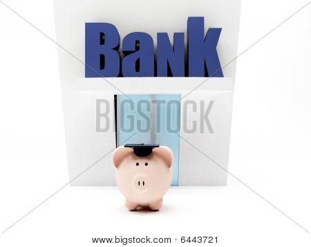 Graduated Piggybank At The Bank