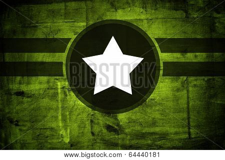 Military Army Star Over Grunge Background