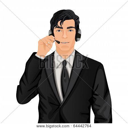 Customer service representative man