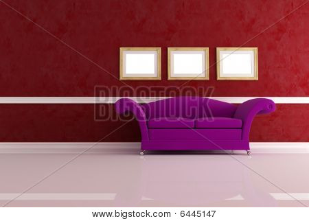 Modern Couch In A Classic Living Room
